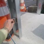 SH波は鋼材の横に探触子を設置して測定